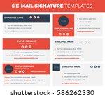 set of 6 flat and modern e mail ... | Shutterstock .eps vector #586262330