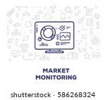 vector creative illustration of ... | Shutterstock .eps vector #586268324