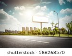 billboard blank for outdoor... | Shutterstock . vector #586268570