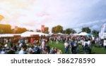 summer festival outdoor theme... | Shutterstock . vector #586278590