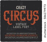 "vintage label font named ""crazy ... 
