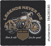t shirt or poster design with... | Shutterstock .eps vector #586280180