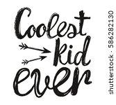 vector lettering typography... | Shutterstock .eps vector #586282130