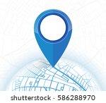 gps. navigation mockup blue... | Shutterstock .eps vector #586288970