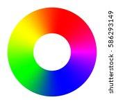 wheel rainbow color palette | Shutterstock .eps vector #586293149