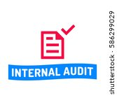 internal audit. badge with... | Shutterstock .eps vector #586299029