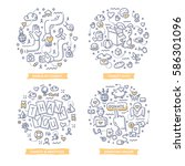 doodle vector concepts of... | Shutterstock .eps vector #586301096