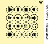 music icon. multimedia icons | Shutterstock .eps vector #586302428