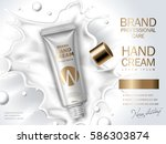 hand cream contained in... | Shutterstock .eps vector #586303874