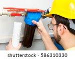 water filtering   plumber... | Shutterstock . vector #586310330