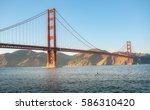 world famous landmark  golden... | Shutterstock . vector #586310420