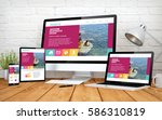3d rendering with multidevices...   Shutterstock . vector #586310819