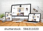 3d rendering with multidevices...   Shutterstock . vector #586311020