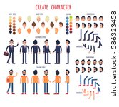 create character poster of men... | Shutterstock .eps vector #586323458