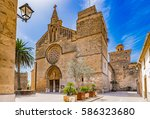spain majorca  church sant... | Shutterstock . vector #586323680