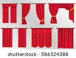 red curtains set of different... | Shutterstock .eps vector #586324388