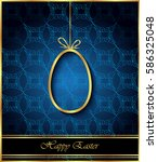 happy easter background for... | Shutterstock . vector #586325048
