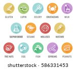 food safety allergy icons... | Shutterstock .eps vector #586331453