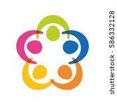 abstract people symbol icon...   Shutterstock .eps vector #586332128
