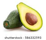 Sliced Avocado Isolated