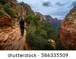 zion national park utah usa...   Shutterstock . vector #586335509