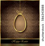 happy easter background for... | Shutterstock . vector #586343888