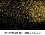 gold glitter texture isolated... | Shutterstock . vector #586344170