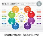 vector infographic of... | Shutterstock .eps vector #586348790