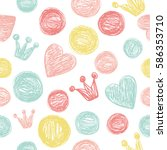 simple pattern with hearts and...