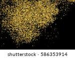 gold glitter texture isolated... | Shutterstock . vector #586353914