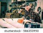 production line work. caucasian ...   Shutterstock . vector #586353950