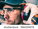 worker protection equipment.... | Shutterstock . vector #586354076