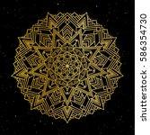 oriental pattern  vector... | Shutterstock .eps vector #586354730