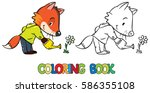 coloring book of funny little...   Shutterstock .eps vector #586355108