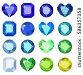 gems isolated on white... | Shutterstock .eps vector #586357358