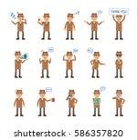 big set of detective characters ... | Shutterstock .eps vector #586357820