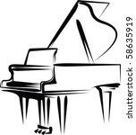 piano   Shutterstock .eps vector #58635919