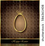 happy easter background for... | Shutterstock . vector #586361408