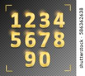 set of gold metal vector... | Shutterstock .eps vector #586362638