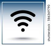 wireless sign icon  vector... | Shutterstock .eps vector #586369790