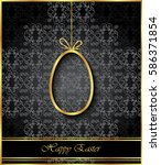 happy easter background for... | Shutterstock . vector #586371854