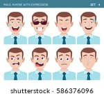 Set Of Male Facial Emotions....