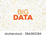 abstract big data business... | Shutterstock .eps vector #586383284