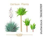 vector pic series cartoon... | Shutterstock .eps vector #586383989