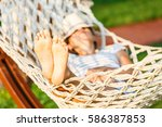 Woman Is Lying In The Hammock