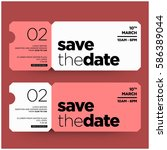 save the date minimalist modern ... | Shutterstock .eps vector #586389044