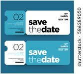 save the date minimalist modern ... | Shutterstock .eps vector #586389050