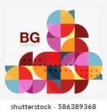 modern geometric circle...   Shutterstock .eps vector #586389368