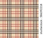 Seamless Pattern  Tartan Cloth...