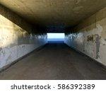 Concrete Tunnel By The Sea